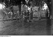 World War 1 Picture - German Settlers celebrating Christmas in Kamerun