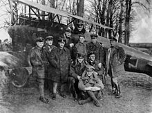 World War 1 Picture - Manfred von Richthofen with other members of Jasta 11