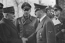 World War 1 Picture - P�tain meeting Hitler in October 1940.