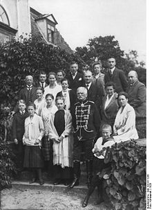 World War 1 Picture - August von Mackensen's family at his 80th birthday