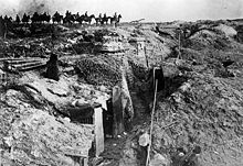 World War 1 Picture - Germans passing a captured British trench