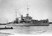 World War 1 Picture - SMS Rheinland, a Nassau-class battleship, Germany's first response to Dreadnought.