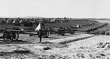 World War 1 Picture - British artillery placements during the Battle of Jerusalem, 1917.