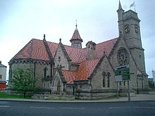 World War 1 Picture - Christ Church was built from materials excavated to build the new docks during the industrial revolution, and intended to satisfy the spiritual needs of the new workforce. It is now Hartlepool's art gallery and visitor centre.