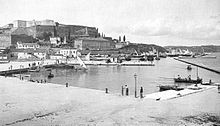 World War 1 Picture - The Harbour of Corfu in 1890