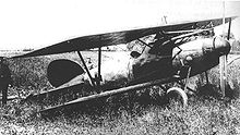 World War 1 Picture - Richthofen's Albatros D.V after forced landing near Wervicq