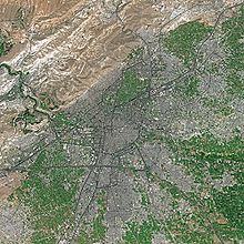 World War 1 Picture - Damascus in spring seen from Spot satellite