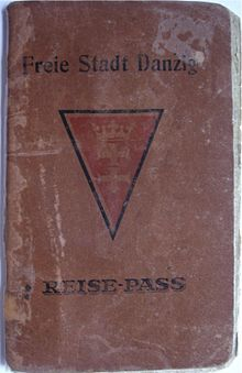 World War 1 Picture - Passport of the Free City of Danzig