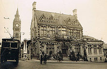 World War 1 Picture - Darlington Town Hall decorated for the King's Coronation, 1937