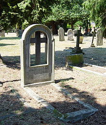 World War 1 Picture - Sir Doveton Sturdee's gravestone in the churchyard of St Peter's Church, Frimley