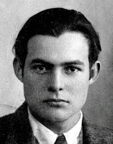World War 1 Picture - Hemingway's 1923 passport photo. At this time he lived in Paris with his wife Hadley, and worked as a journalist.