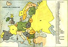 World War 1 Picture - Louis P. B�n�zet's map of