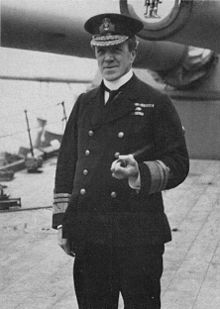 World War 1 Picture - Sturdee on board HMS Hercules commanding 4th Battle Squadron at the Battle of Jutland