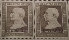 World War 1 Picture - P�tain on French stamps of 1944