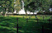 World War 1 Picture - Fricourt German war cemetery has 10,000 dead from the Somme battle