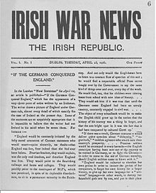 World War 1 Picture - Irish War News, produced during the Rising