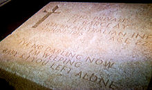 World War 1 Picture - Typical Gallipoli campaign epitaph at Lone Pine Cemetery