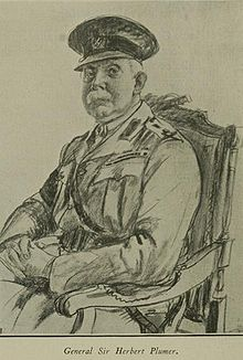 World War 1 Picture - Wartime sketch of General Plumer