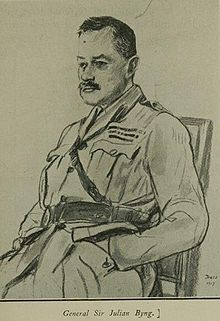 World War 1 Picture - A wartime sketch of General Byng
