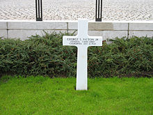 World War 1 Picture - Patton's grave in Hamm, Luxembourg.