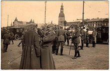 World War 1 Picture - High-ranking German officers in Riga after its fall, 3 September 1917