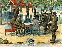 World War 1 Picture - Constantine confers with Prime Minister Eleftherios Venizelos and members of the Greek General Staff prior to the Conference of Bucharest that ended the Balkan Wars.