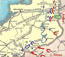 World War 1 Picture - Map of the battle and German retreat.