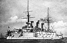 World War 1 Picture - The IJN Suwo was the flagship of the Japanese expeditionary fleet during the Siege of Tsingtao.