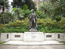 World War 1 Picture - Statue of George VI at the Hong Kong Zoological and Botanical Gardens