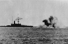 World War 1 Picture - HMS Victoria sinking