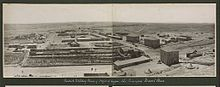 World War 1 Picture - Ottoman Military Town of Hafir el Aujah, the Principal Desert Base