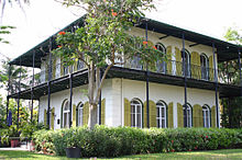 World War 1 Picture - Hemingway house in Key West, Florida where he lived with Pauline. He wrote To Have and Have Not in the second story pool house not seen in picture.