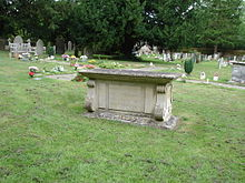 World War 1 Picture - Asquith's Grave at All Saints' Church, Sutton Courtenay