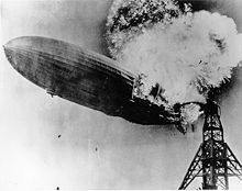World War 1 Picture - The Hindenburg on fire in 1937