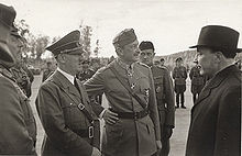 World War 1 Picture - Discussion with Hitler, Mannerheim and president Ryti. Hitler visited in Mannerheim's 75-year birthday.