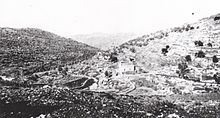 World War 1 Picture - Typical Judean Hills landscape in 1917