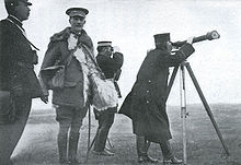 World War 1 Picture - Gen. Sir Ian Hamilton (facing front) with Japanese General Kuroki Tamemoto after the Japanese victory in Battle of Shaho (1904).