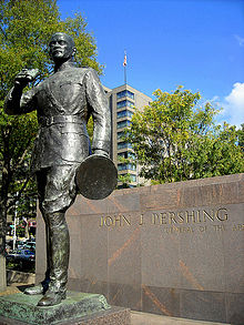 World War 1 Picture - Statue of Pershing in Pershing Park, Washington, D.C.