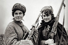 World War 1 Picture - Female Soviet partisans operating under Sydir Kovpak in Ukraine.