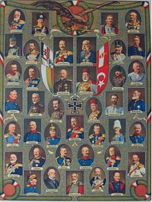 World War 1 Picture - A postcard depicting the leaders of the Central Powers.