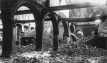 World War 1 Picture - The ruins of the library of the Catholic University of Leuven after it was burned in 1914.