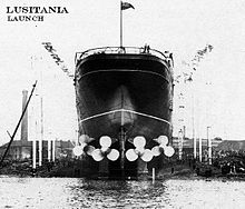 World War 1 Picture - Lusitania was the first quadruple screw ocean liner.