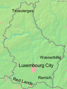 World War 1 Picture - Germany's main invasion thrust was towards Luxembourg City.