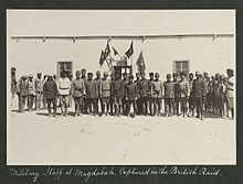 World War 1 Picture - The military staff at Magdabah before the attack