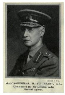 World War 1 Picture - Major-General Henry D'Urban Keary, GOC 3rd (Lahore) Division