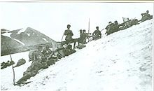 World War 1 Picture - Machine gun unit at Allahx�ekber Mountains