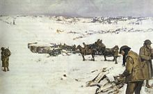 World War 1 Picture - Mametz, Western Front, a winter scene by Frank Crozier