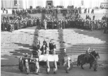 World War 1 Picture - Mannerheim's funeral parade in Helsinki Senate Square in 4th February 1951.