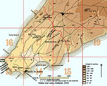 World War 1 Picture - Map of Helles war zone