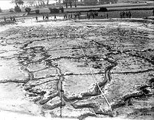 World War 1 Picture - Large scale-model of German trench lines